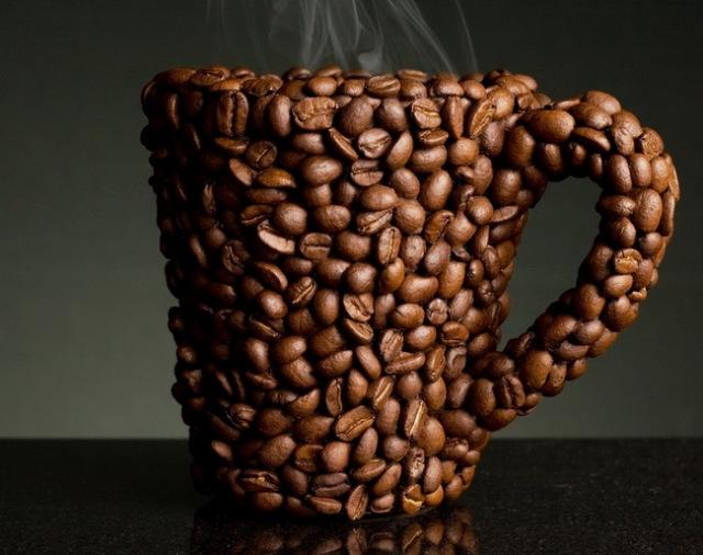 Как сделать поделку из кофейных зерен фото 418